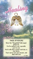THOUGHTFUL ANGEL PIN  ANGEL OF HEALING
