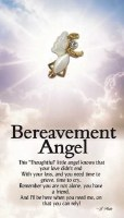 THOUGHTFUL ANGEL PIN BEREAVEMENT ANGEL