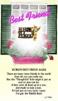 THOUGHTFUL ANGEL PIN BEST FRIEND
