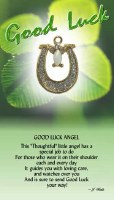 THOUGHTFUL ANGEL PIN  GOOD LUCK