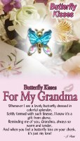 THOUGHTFUL ANGEL PIN BFLY KISSES GRANDMA