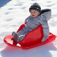 TODDLER SNOW BOGGAN RED 27""