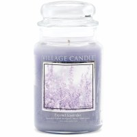 VILLAGE CANDLE LG DOME FROSTED LAVENDER