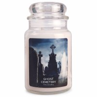 VILLAGE CANDLE LG DOME GHOST CEMETERY