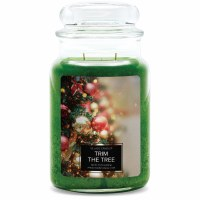 VILLAGE CANDLE LG DOME TRIM THE TREE