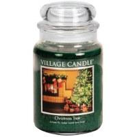 VILLAGE CANDLE LG JAR CHRISTMAS TREE