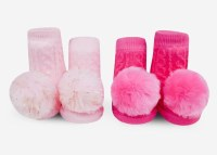 WADDLE RATTLE SOCKS POM POM PINKS
