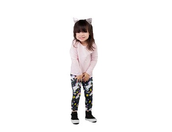 TWO LEFT FEET KID'S LEGGING UNICORN MED