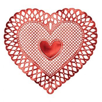 VINYL HEART PLACEMAT