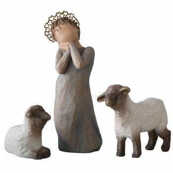 WILLOW TREE LITTLE SHEPHERDESS SET/3