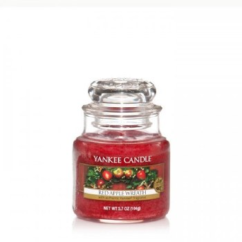 YANKEE SMALL JAR RED APPLE WREATH