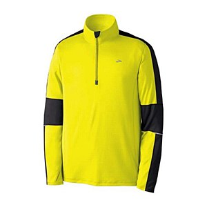 Brooks NightLife Essential RunS 1/2 Zip Yellow
