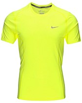Nike Dri-Fit Miler SS T-Shirt Neon Yellow