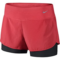 Nike Perforated Rival 2 in 1 Womens Red