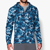 Under Armour Men's Rival Printed Hoodie Blue