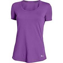 Under Armour Charged Run SS Tee Women's Purple