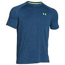 Under Armour UA Tech SS Tee Men's Blue Yellow