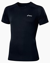 Asics Short Sleeve Top Black/ Silver