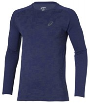 Asics Long Sleeve Seamless Top Navy