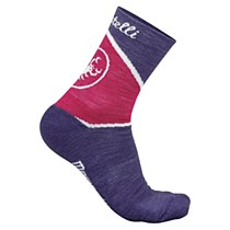 Castelli Mondrian Sock Purple