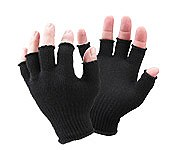 Seal Sk Fingerless Wool Gloves