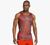 Under Armour Flyweight Run Singlet Grey/ Orange