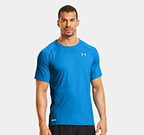 Under Armour Flyweight Run Short Sleeve Top Blue/ Black