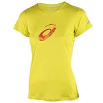 Asics Graphic Short Sleeve Top Lime