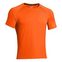 Under Armour Flyweight Run Short Sleeve Tee Orange/ Silver