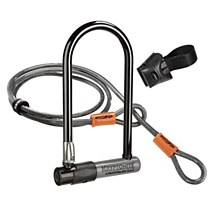 Kryptonite KryptoLok Series 2 long shackle U-lock with with FlexFrame bracket and Cable