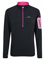 Ronhill Women's Vision Winter 1/2 Zip Black/ Pink
