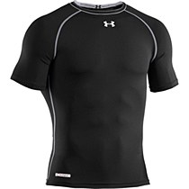 Under Armour Sonic Compression Short Sleeve Tee Black/ White