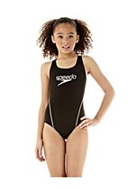 Speedo Spiralize Splashback Girl's 24 BLK/SIL