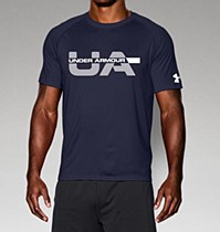 Under Armour Wordmark Strikethrough Navy