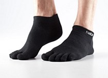 ToeSox No Show Black Sock