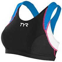 TYR Women's Competitor Support Bra Black/ Pink