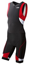 TYR Competitor Trisuit F/Z Black/ Red