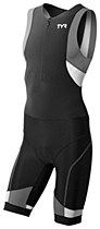 TYR Competitor Trisuit Full Zip Black/ Grey