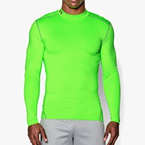 Under Armour Compression Mock Hyper Green