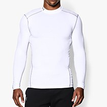 Under Armour Compression Mock Hyper White