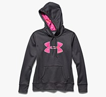 Under Armour Printed Hoodie Grey/ Pink