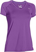 Under Armour HeatGear Armour Short Sleeve Purple