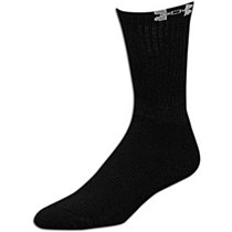 Under Armour All Season Gear Men's Crew 3-Pack Socks Black 3-7.5