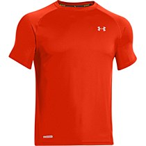 Under Armour Flyweight Run Short Sleeve Tee Orange