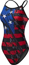 TYR Valor Diamond Fit Red/ White/ Blue