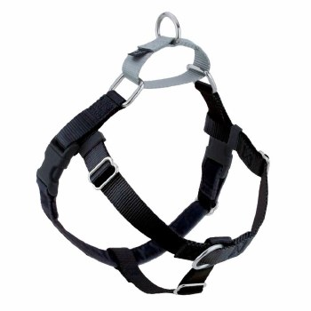 "2 Hounds - Freedom No-Pull Harness - Black 5/8"" Wide - Medium"