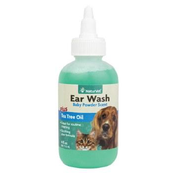 NaturVet - Ear Wash plus Tea Tree Oil - 4 oz