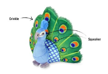 PLAY - Fetching Flock Dog Toy - Percy the Peacock