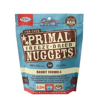 Primal - Rabbit Formula - Freeze Dried Cat Food - 5.5 oz