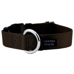 "2 Hounds - Dog Collar - Brown 1"" Wide - Medium"